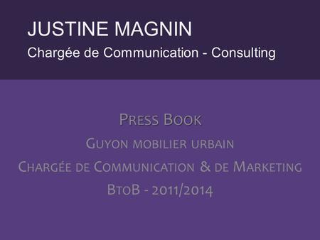 Chargée de Communication & de Marketing
