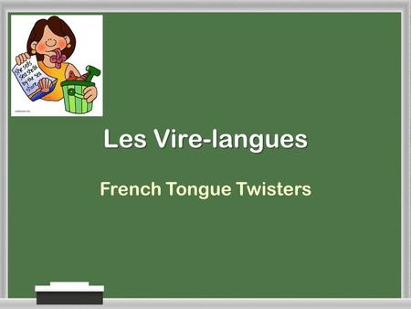 Les Vire-langues French Tongue Twisters Poisson sans boisson-c'est poison!. (To eat) fish without drinking wine is poison!