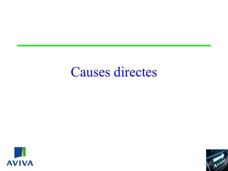 Causes directes Identification de la cause directe.