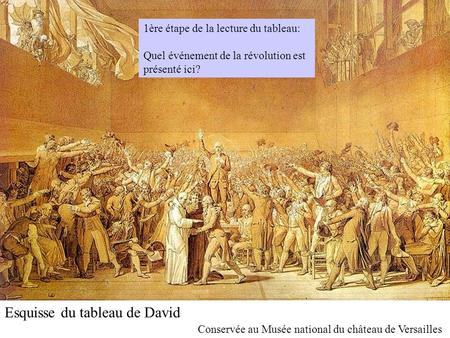 Esquisse du tableau de David