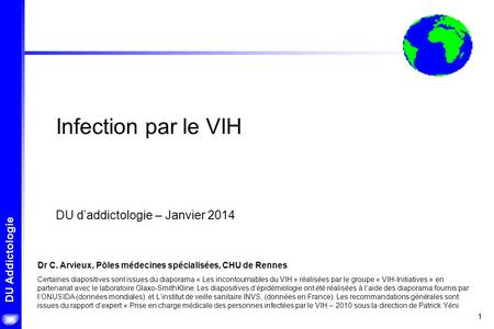 Infection par le VIH DU d'addictologie – Janvier 2014