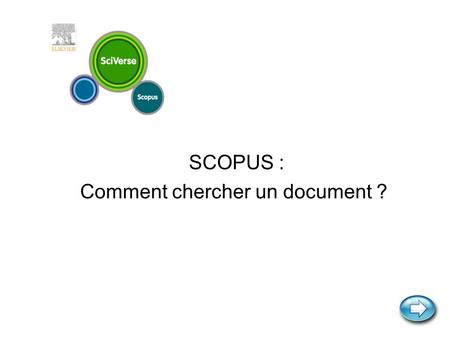 SCOPUS : Comment chercher un document ?