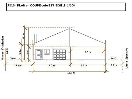 Etudes des constructions ppt t l charger - Plan de coupe de maison ...