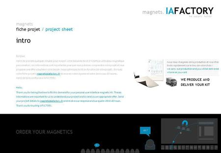 Magnets fiche projet / project sheet IAFACTORY THE MAGNETIC FACTORY magnets. IAFACTORY | conseil en architecture de linformation |  |
