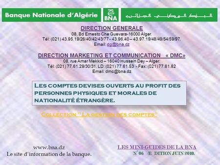 DIRECTION MARKETING ET COMMUNICATION « DMC»