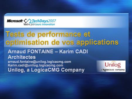 Tests de performance et optimisation de vos applications