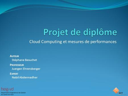 Cloud Computing et mesures de performances