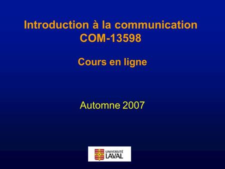 Introduction à la communication COM-13598