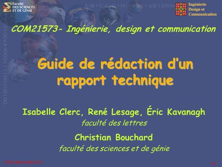 Guide de rédaction d'un rapport technique