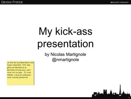 My kick-ass presentation
