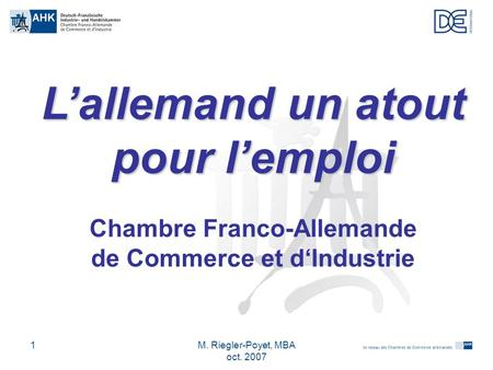 Les relations conomiques franco allemandes ppt t l charger for Chambre de commerce franco egyptienne