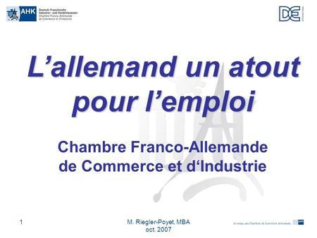 Les relations conomiques franco allemandes ppt t l charger for Chambre de commerce franco indienne