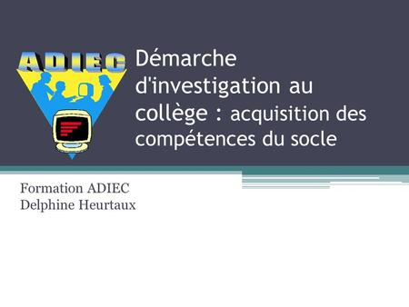 Formation ADIEC Delphine Heurtaux