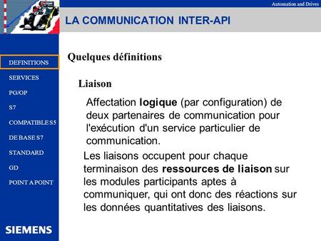 LA COMMUNICATION INTER-API