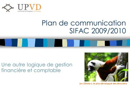 Plan de communication SIFAC 2009/2010