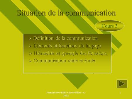 Situation de la communication