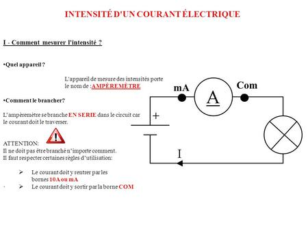 Comment utiliser un multim tre ppt video online t l charger - Comment brancher un voltmetre ...
