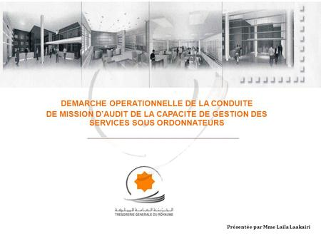 DEMARCHE OPERATIONNELLE DE LA CONDUITE