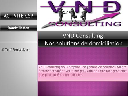 VND Consulting Nos solutions de domiciliation