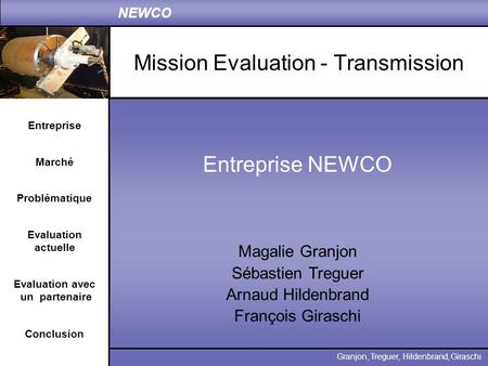 Mission Evaluation - Transmission