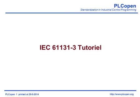IEC Tutoriel Welcom in the notes view,