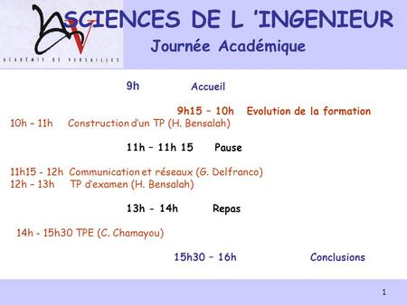 SCIENCES DE L 'INGENIEUR