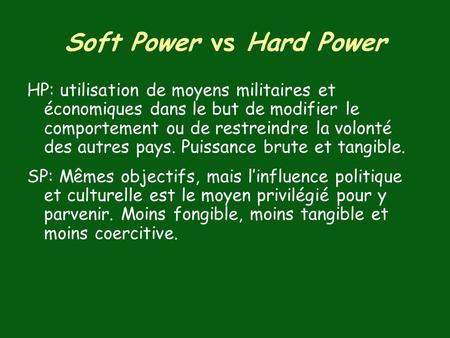 Soft Power vs Hard Power