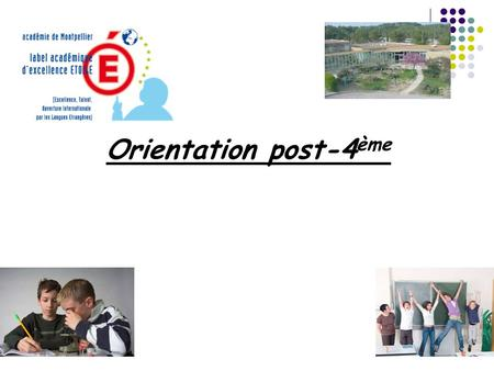 Orientation post-4ème.