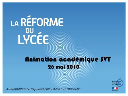 Animation académique SVT