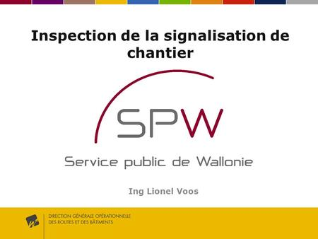 Inspection de la signalisation de chantier