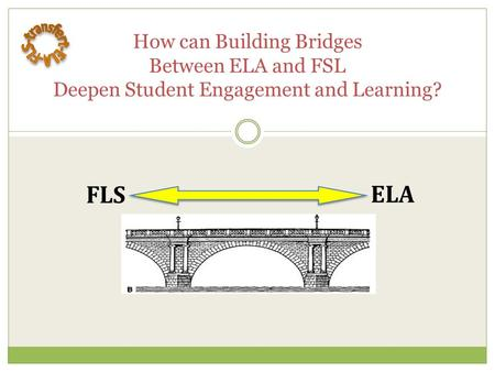 How can Building Bridges Between ELA and FSL Deepen Student Engagement and Learning? FLSELA.