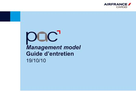 Management model Guide d'entretien