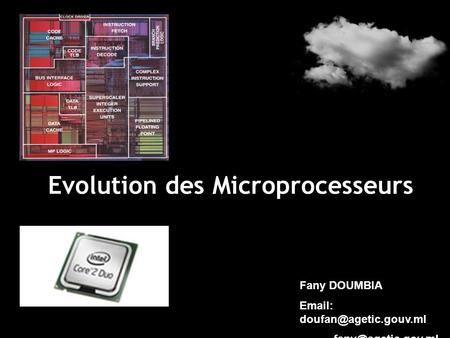 Evolution des Microprocesseurs Fany DOUMBIA
