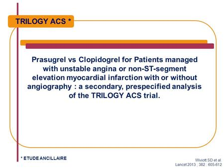 Prasugrel vs Clopidogrel for Patients managed with unstable angina or non-ST-segment elevation myocardial infarction with or without angiography : a secondary,