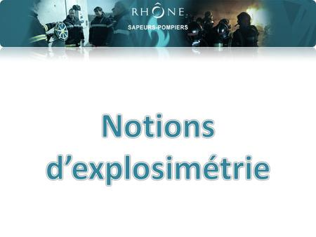 Notions d'explosimétrie