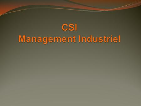 CSI Management Industriel