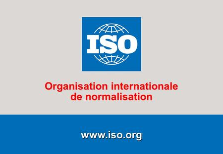 1 2007-11-12  Organisation internationale de normalisation.