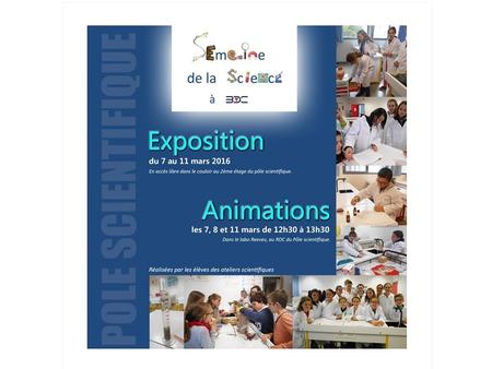 Exposition interactive Animations atelier SVT 6ème.