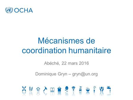 coordination humanitaire