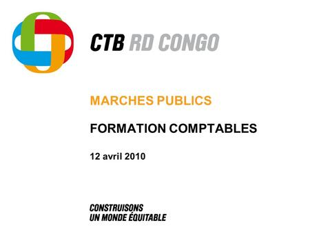 MARCHES PUBLICS FORMATION COMPTABLES 12 avril 2010.