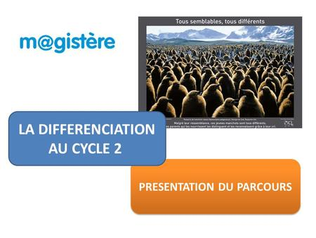 PRESENTATION DU PARCOURS LA DIFFERENCIATION AU CYCLE 2.