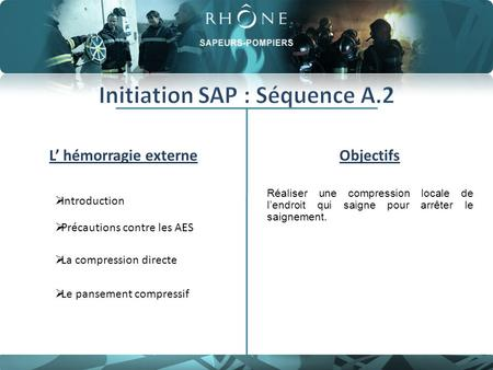 Initiation SAP : Séquence A.2