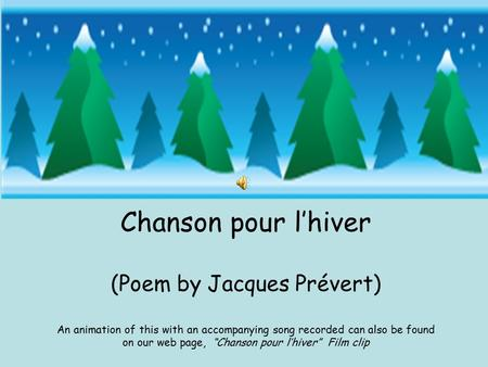 (Poem by Jacques Prévert)