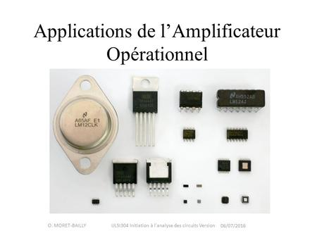 Applications de l'Amplificateur Opérationnel