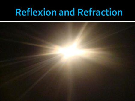 Reflexion and Refraction