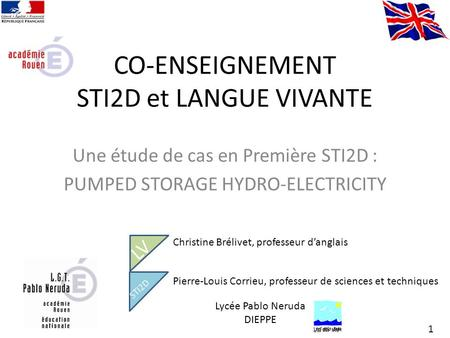 CO-ENSEIGNEMENT STI2D et LANGUE VIVANTE