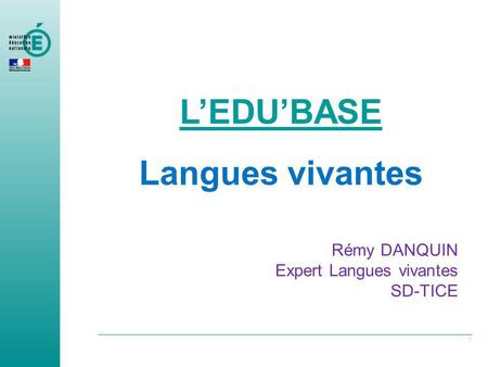 L'EDU'BASE Langues vivantes