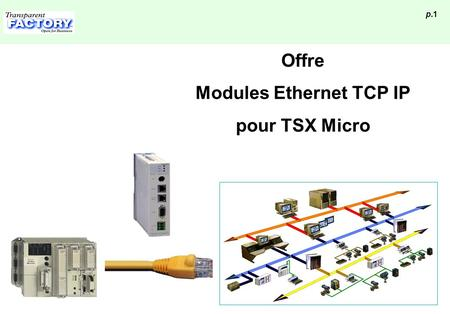 P.1 Offre Modules Ethernet TCP IP pour TSX Micro.