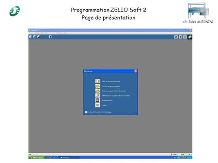 Programmation ZELIO Soft 2