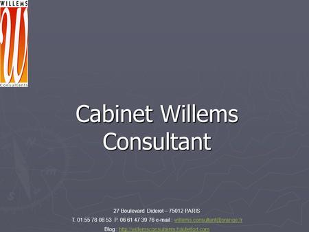 Cabinet Willems Consultant
